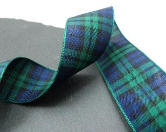 Blackwatch Scottish Tartan Ribbon 25mm Wide Berisfords Per Metre