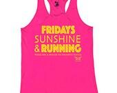 NEW Women's Running Tank | Fridays, Sunshine, and Running | Small