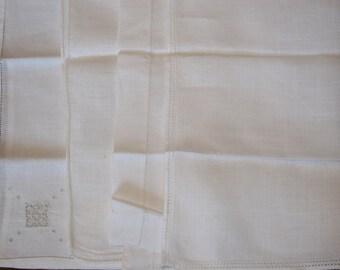 Vintage white embroidered handkerchiefs