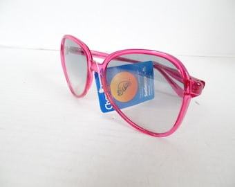 Vintage 80s Pink Sunglasses, Womens Oversized Sunglasses, 80s Frames, Deadstock