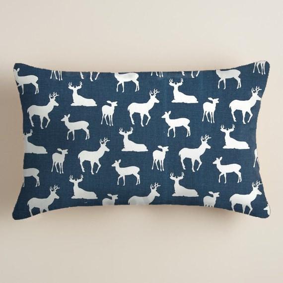 BLUE PILLOW 12x16 or 12x18 inch. Pillow.Lumbar Pillow