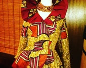 African Wax Print Double Layer Peplum Jacket-choose a print