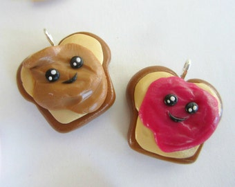 Peanut Butter & Jelly Couple/Friendship Pendant Sculptures