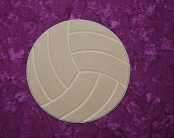"Volleyball Cut Out Unfinished MDF Wooden Shapes 12"" Inch"