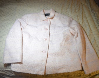 ON SALE  Pink Nubby Jacket from Sag Harbor Size 12