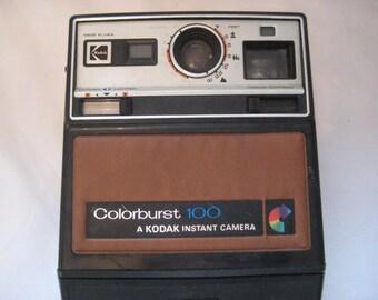 Vintage camera, Kodak color burst camera, instant camera, display, collectible, 70s