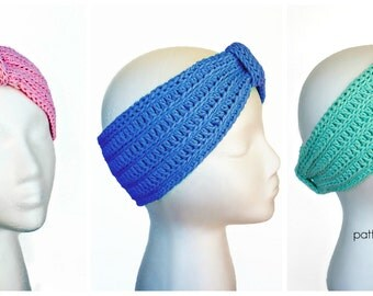Crochet Pattern for Headband, Ear Warmer Turban Tranquility PDF 16-274