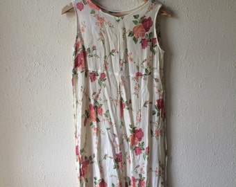 Fresh floral mini dress (s)