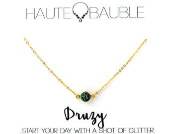 Dainty Druzy Pendant Necklace