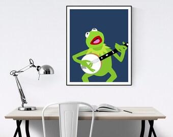 Kermit the Frog Minimalist Poster