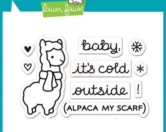 Lawn Fawn - Winter Alpaca Stamp Set
