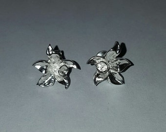 Sterling Silver Daffodil Earrings