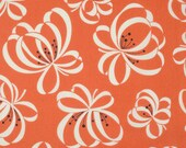 SALE Ribbon Floral Orange by Denyse Schmidt - Katie Jump Rope - Orange Fabric - Free Spirit Fabric - Denyse Schmidt - Orange Floral Fabric