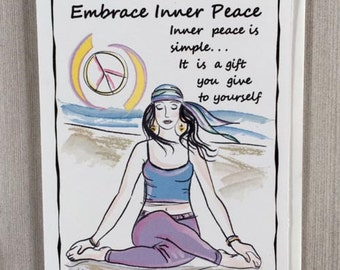 Embrace Inner Peace - Inspirational Greeting Card