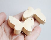 Butterfly-pendant - teether - natural, eco friendly - made from alder-tree