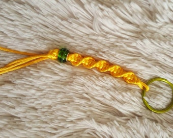 Golden Twisty Keychain