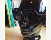 LOVE U SALE Deadstock Black Round frame Sun Glasses
