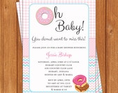 Oh Baby Donut Invitation | Baby Shower | Printable Editable Digital PDF File | Instant Download | BSI388DIY