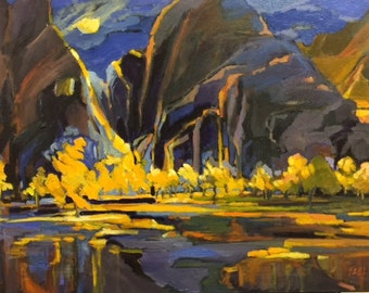 Moonlight Over Zion Original Oil Painting