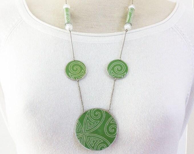 Jewelry Set - paper jewelry - glitter jewelry - locket necklace - paper necklace -graphic jewelry - paper ring - geometric jewelry - fantasy