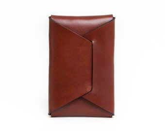 English Bridle Leather Card Carry | Chestnut
