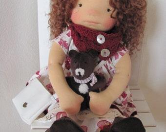 """Tina - 18"""" Waldorf inspired doll"""