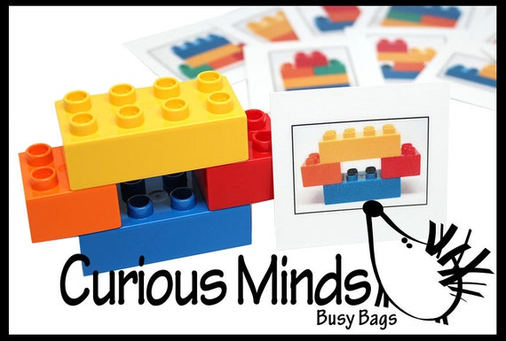 Lego Busy Bag - Large block and easier patterns for beginners - DUPLO