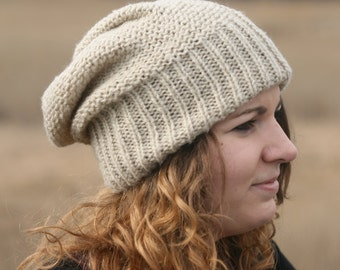 knitted slouchy beanie