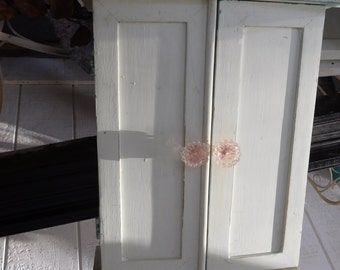 Vintage Wall Mount White Cabinet