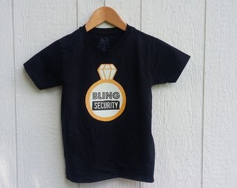 Bling Security Ring Bearer tshirt Whimsy Onesie Etsy tee ring wedding maid of honor bridesmaid bride groom engaged engagement gift