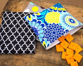 Sets of 3 Reusable Snack Bags -custommade in over 200 fabrics