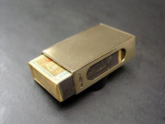 Rare Solid Gold (9ct) Match Box Holder ~ Hallmarked '375' / London 1907