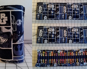 Retro Star Wars Crayon Roll with 24 Crayons Included