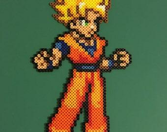 Goku Perler (Yellow Hair)
