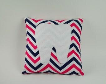Tooth Fairy Pillows  Fun Pink & Blue styles Chevron / Polka Dots
