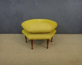 Mid Century Upholstered Ottoman