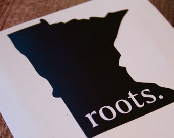 Minnesota Roots Decal, Minnesota Vinyl, Laptop Decal, Laptop Vinyl, Car Decal, Window Decal, Window Vinyl,  Christmas Gift