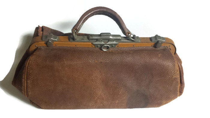 Vintage Doctor Bag Leather Bags Early 1900s Doctor Bag By