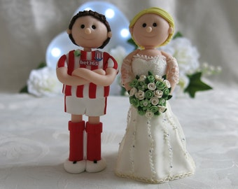 Personalised keepsake Polymer Clay Wedding Cake Toppers Bride & Groom Civil Partnership