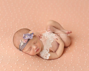 Newborn Photography Fabric Backdrop -  Thick Bloom Knit Backdrop in Peach -  2 Yards