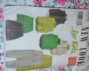 New look 6906 Kids Vest Skirt and Pants Sewing Pattern - UNCUT- Sizes 7  - 12