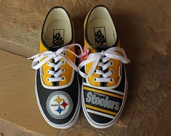 Hand Painted Shoes - Pittsburgh Steelers