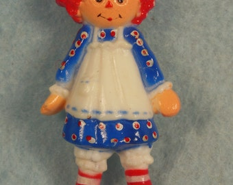 "Vintage--1975-Raggedy Ann-Full Figural Pin-Hallmark-2 1/4"" Tall"