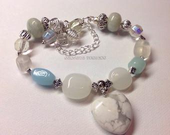 Bracelet made with semi precious stones.