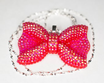 Sparkly Bow Necklace
