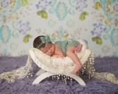 Newborn {Jade} Strapless Mohair Romper & Bow Tieback, Newborn Photography Prop