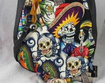 Sugar Skull Contigo Multi Purse CHARLA Over the Shoulder Purse with Wallet