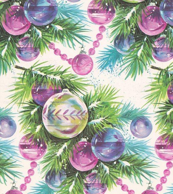 Retro Christmas Decorations Ideas: Retro 1960's Purple Christmas Ornaments 8x10 Retro Craft
