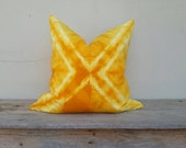 "Yellow pillow cover, pillow cover,tie dye pillow cover 20"" x 20"""