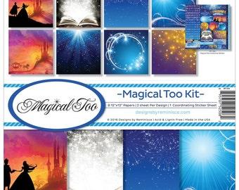 Reminisce 12x12 Scrapbook Paper Kit  - Magical Too - Disney